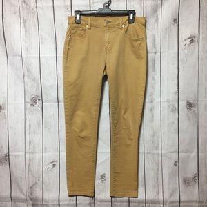 Gap 1969 Girlfriend Tan Jeans 27 Stretch Skinny